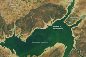 Vista geográfica del dolmen de Guadalperal